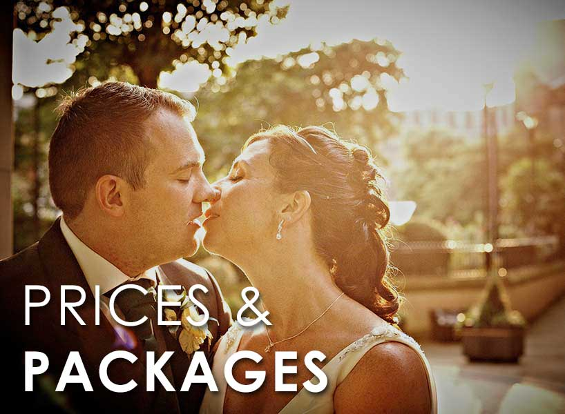 Prices and Packages - Wedding Photographers Yorkshire