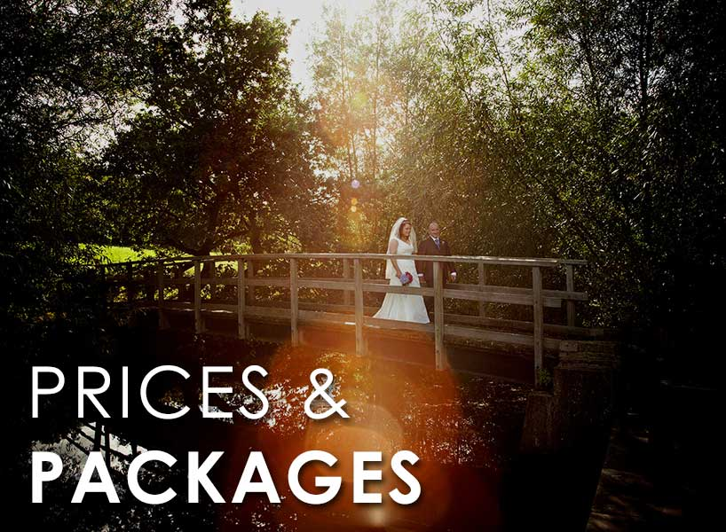 Prices and Packages for wedding photographers in Sheffield